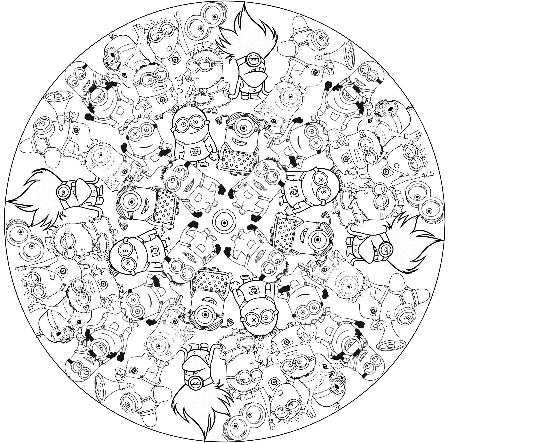 Kleurplaten Minions Mandala.Kleurplaten Mandala Minions Nvnpr