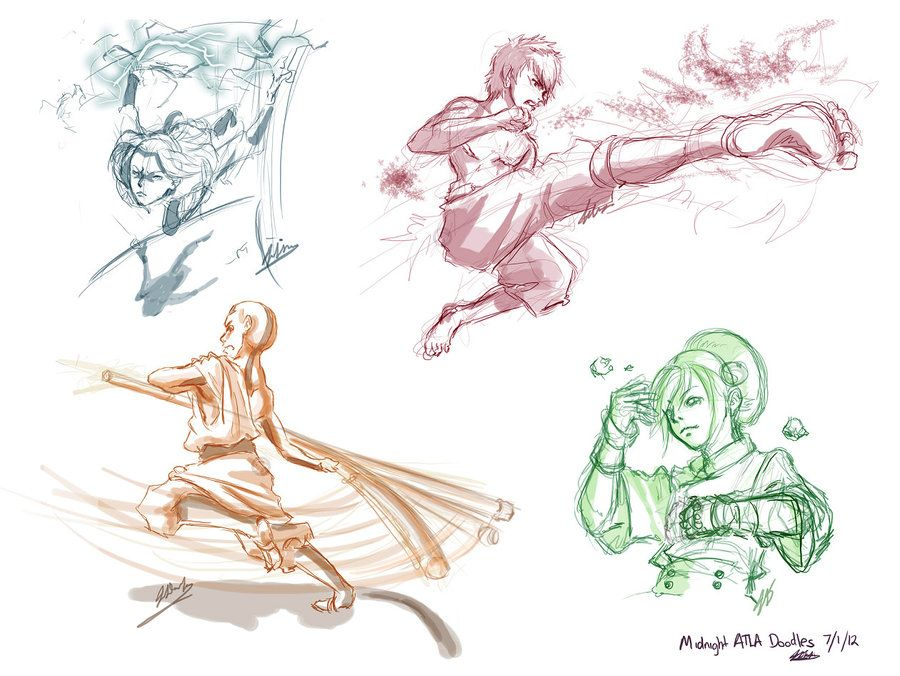 Avatar the last airbender character sketches