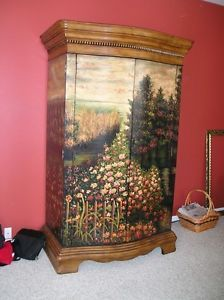 Hand Painted Armoire TV Console Hooker Furniture Seven Seas Collection