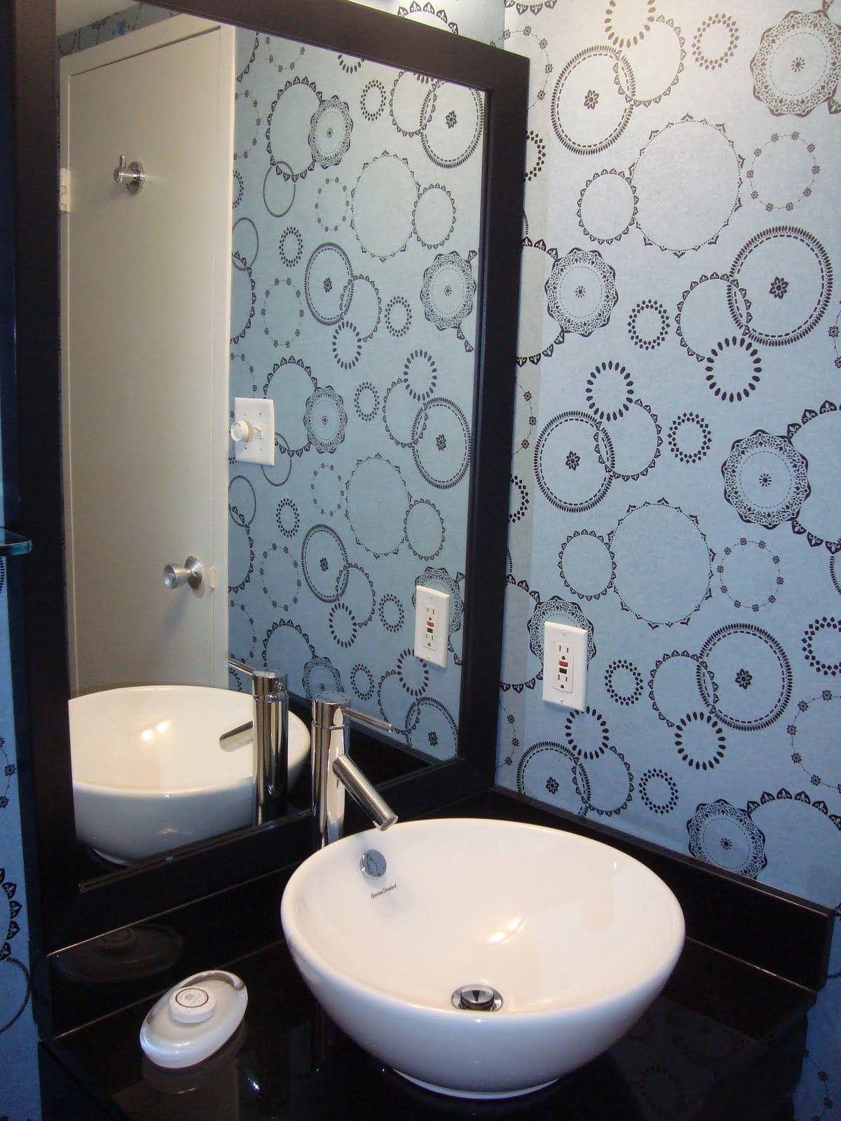 Виниловые обои в ванной Vinyl Wallpaper For Bathroom