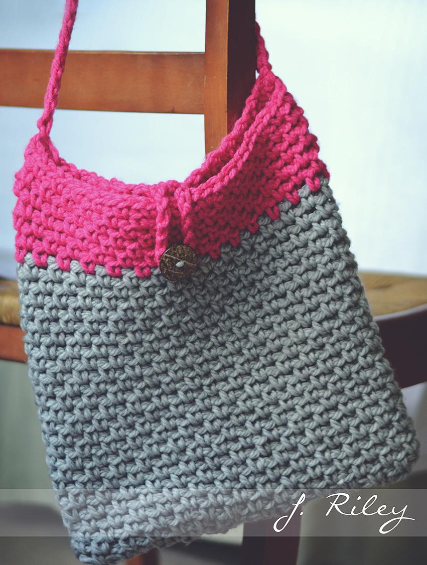 Crochet Linen Stitch Cross Body Bag In Chunky Yarn Inspiration