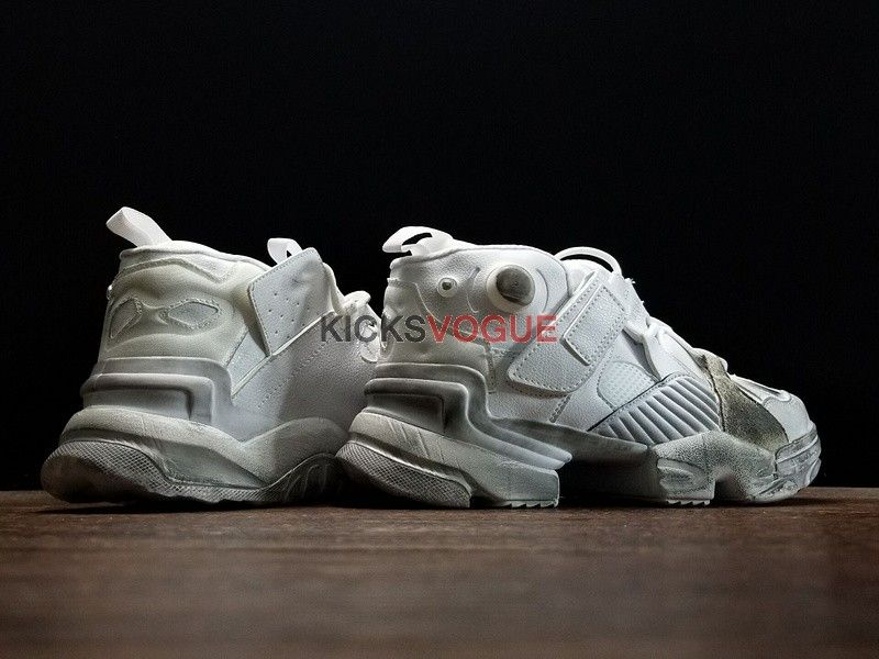 950b6a9b73ee Vetements x Reebok Genetically Modified Pump Distressed Leather   Mesh  Sneakers