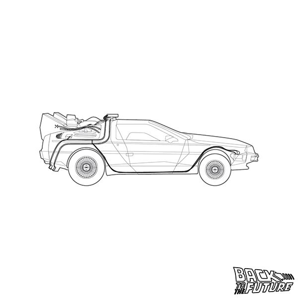 Back To The Future Delorean On Behance Back To The Future Back To The Future Tattoo Delorean