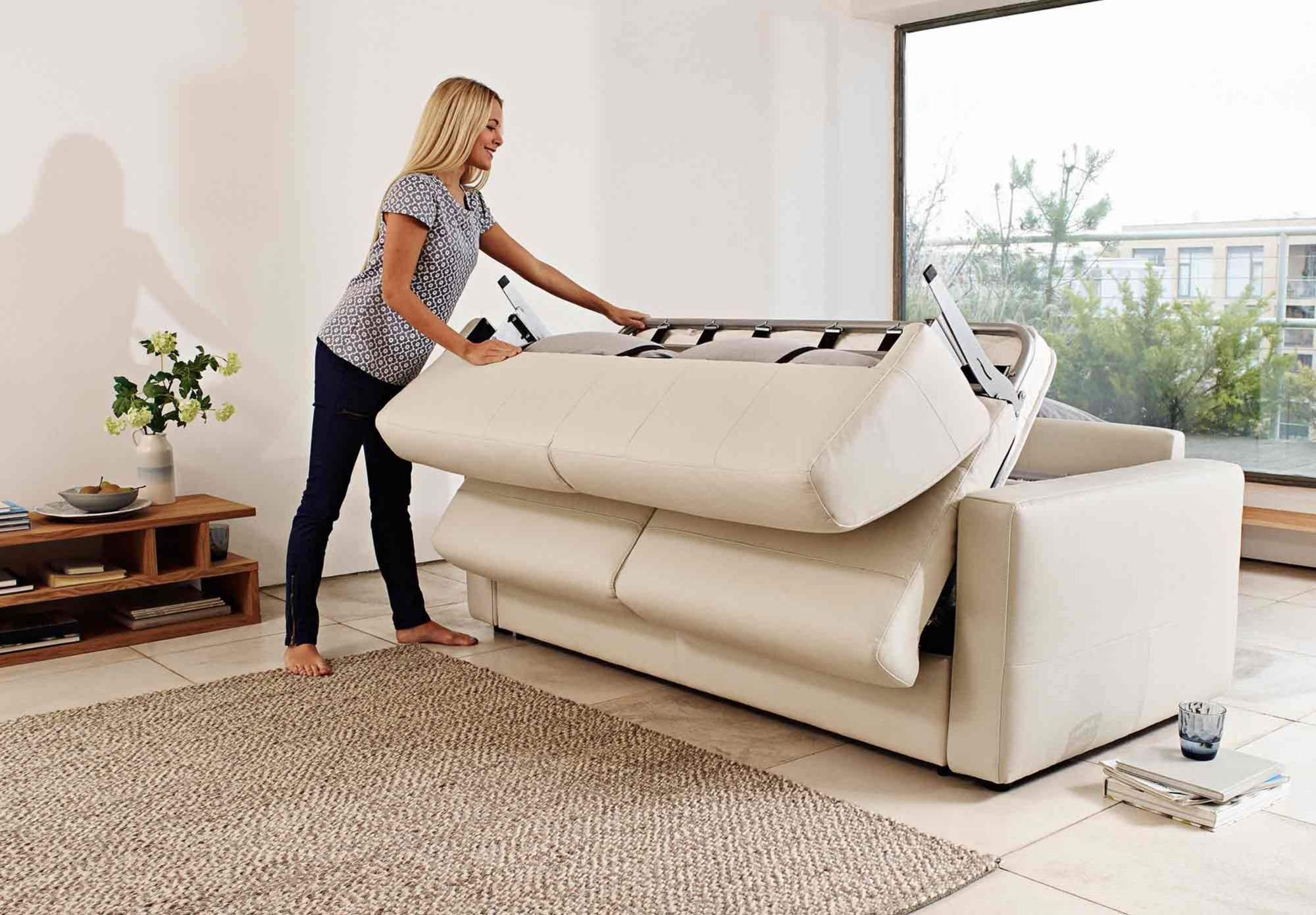 I like this modern chic sofa bed Natuzzi makes beautiful couches