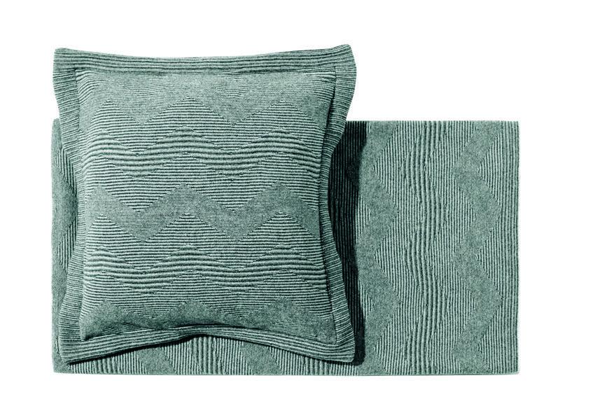 """Oswin"" throw and cushion 100% wool MissoniHome"