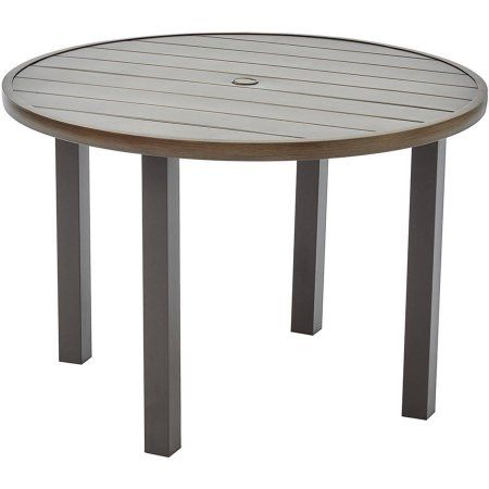 45++ Better homes and gardens camrose farmhouse outdoor steel slat round table inspiration