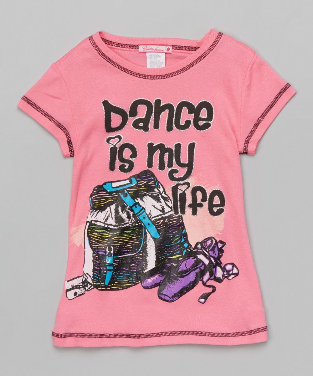 Rose 'Dance Is My Life' Tee - Girls