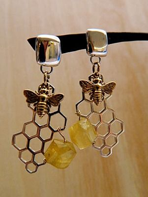 Bee charms silver charms jewelry making supplies Original Designs