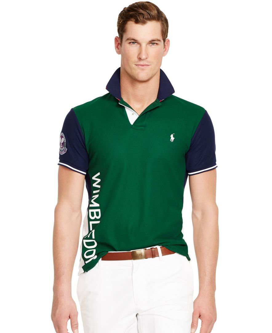 17ee87a794 Polo Ralph Lauren Wimbledon Slim-Fit Banner-Stripe Polo | Products ...
