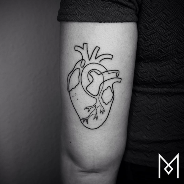 These 24 Minimal Tattoos Are All Made From A Single Line - UltraLinx