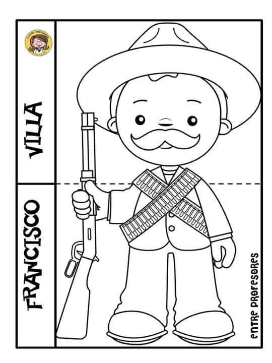 Pin De Lupiz Casillas En Revolucion Mexicana Revolucion Mexicana Para Colorear Revolucion Mexicana Para Ninos Revolucion Mexicana Dibujos