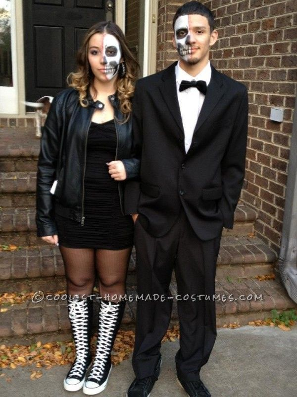 Bone Chilling Prom Date Couple Halloween Costume