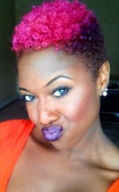 Short Natural Hair With Color Google Search Color