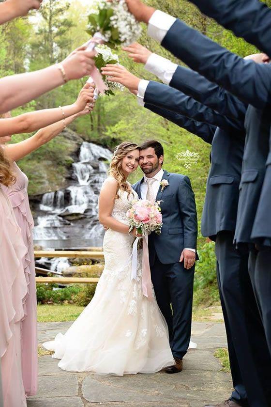 Sweet Outdoor Wedding at Hightower Falls | Georgia wedding ...