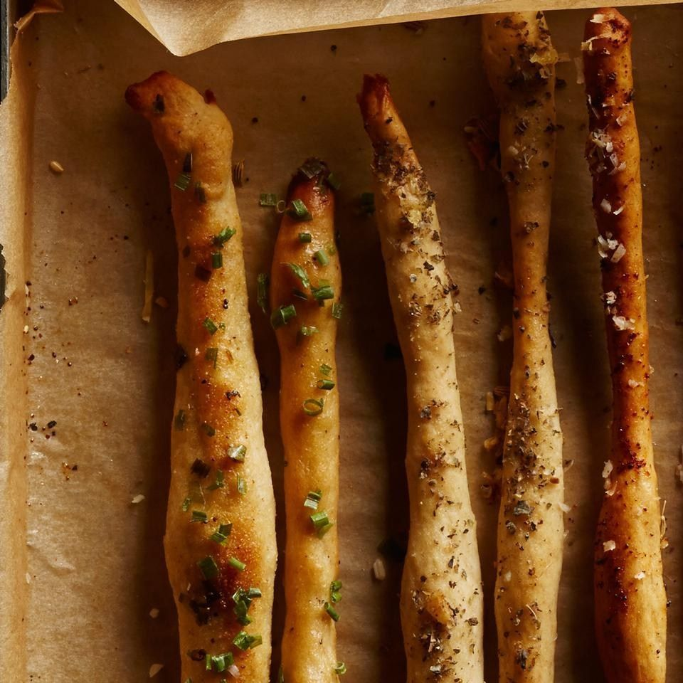 4 Secrets to Healthy, Homemade Breadsticks (No Kneading  Required!-uses pizza dough) - EatingWell
