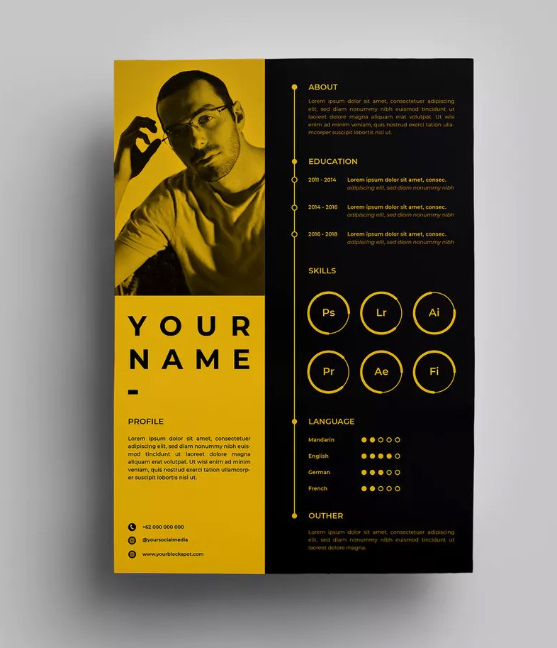 Resume Design Templates 02 By Surotype On Envato Elements Graphic Design Resume Graphic Design Cv Resume Design