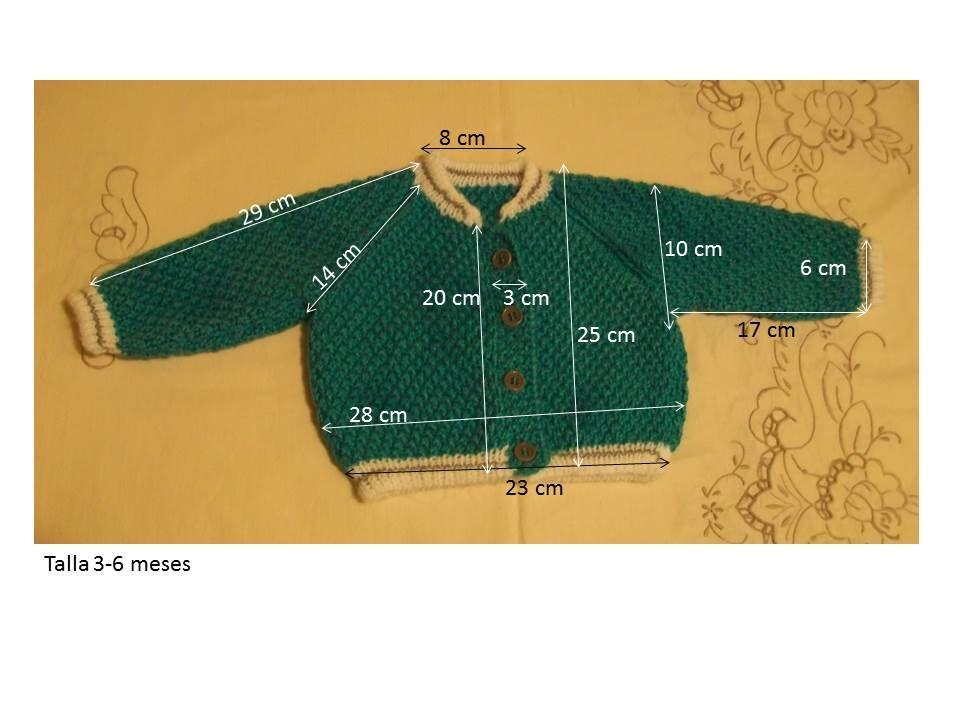 Chaqueta deportiva de 3 4 meses de lana azul la quiero material lana azul especial beb s puesta - Tejer chaqueta bebe 6 meses ...