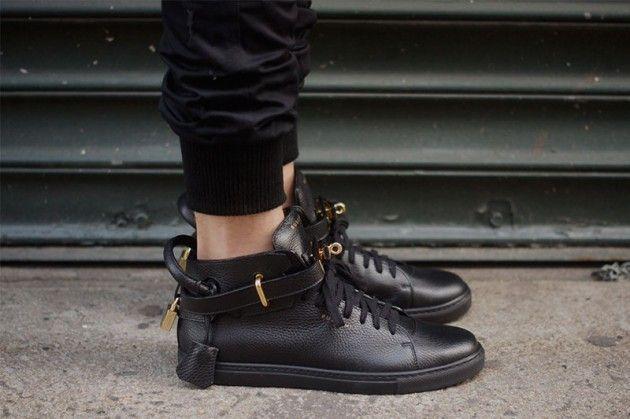 Jon Buscemi 100MM Leather High-tops