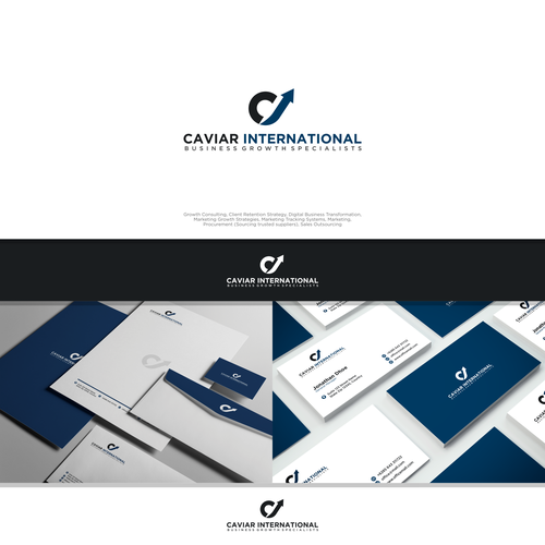 caviar international business design package swap out envelope