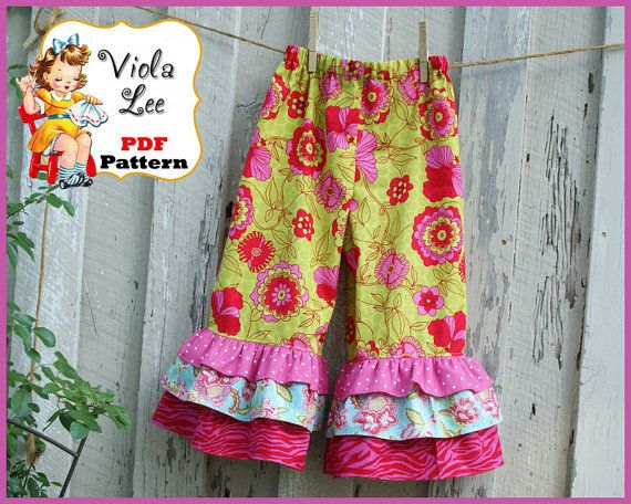 Ruffled pants pattern | For the baby girl | Pinterest