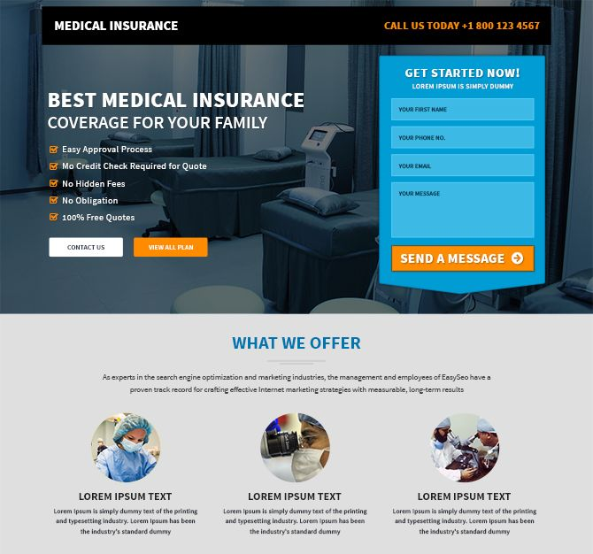 Create your professional and converting life insurance website - web design quote template