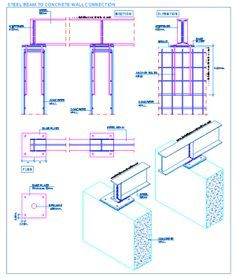 Steel Beam To Concrete Wall Connection Steel Beams Steel Frame Construction Steel Columns