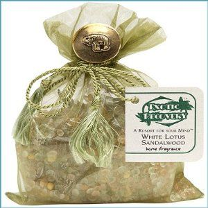 """Exotic Recovery - White Lotus Sandalwood Home Fragrance 4 oz by Exotic Recovery. $9.89. Exotic Recovery Home Fragrance is a design creation from our concept using botanicals, sparkle shapes, shells, sea glass and sea life, along with our fragrance beads to create a detailed display that can become a personal little oasis, """"A Resort for Your Mind"""".Fragrance lasts for approximately six months to one year depending on the environment.4oz. Sachet"""