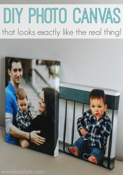 DIY Canvas That Looks Exactly Like The Real Thing