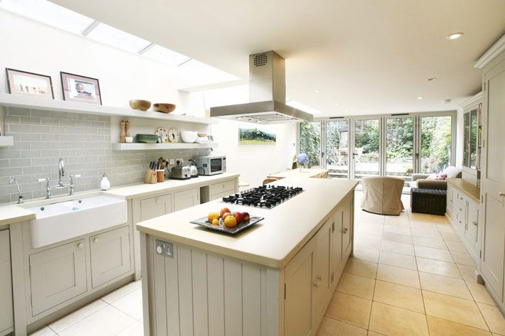 Kitchen Ideas London glass side return kitchen extension | grey cabinets | light