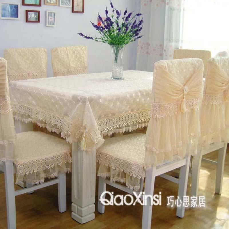 Table Cloth Chair Cover Cushion Dining Table Cloth Tablecloth Lace Cloth Set  Online With