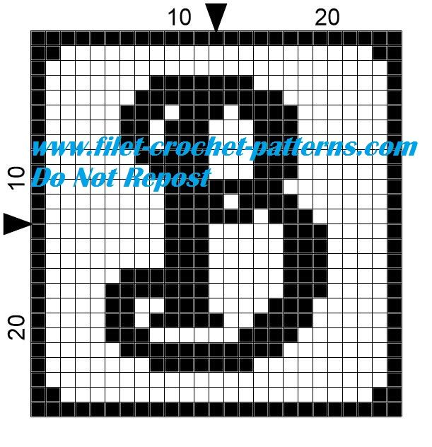 Alphabet letter B filet crochet pattern | Crochet | Pinterest
