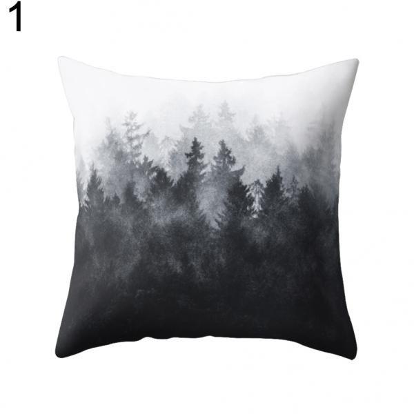 Black and White Geometric Throw Pillow Case Square Cushion ...