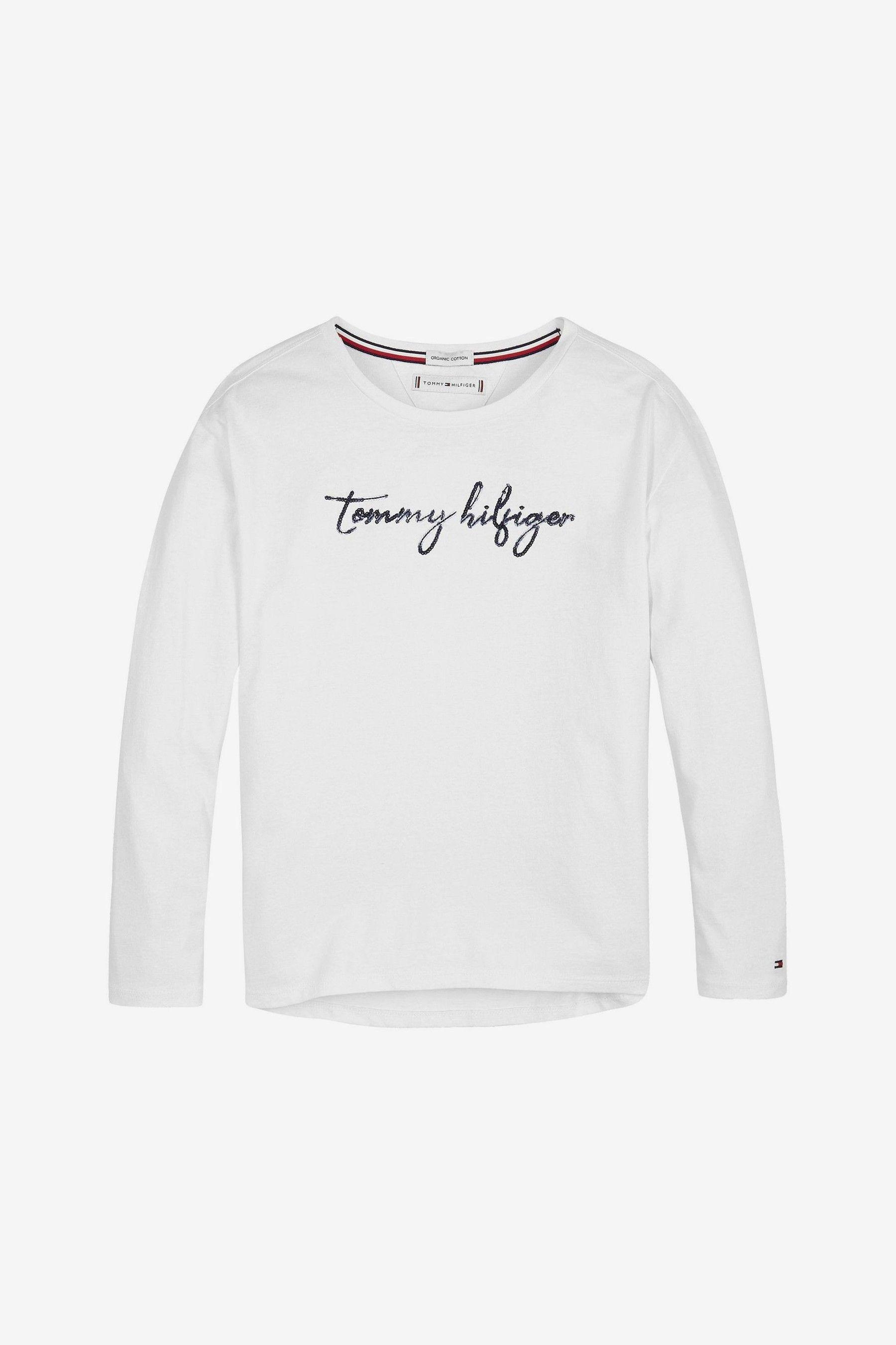 Tommy Hilfiger Girls Organic Cotton Icon Navy Dress