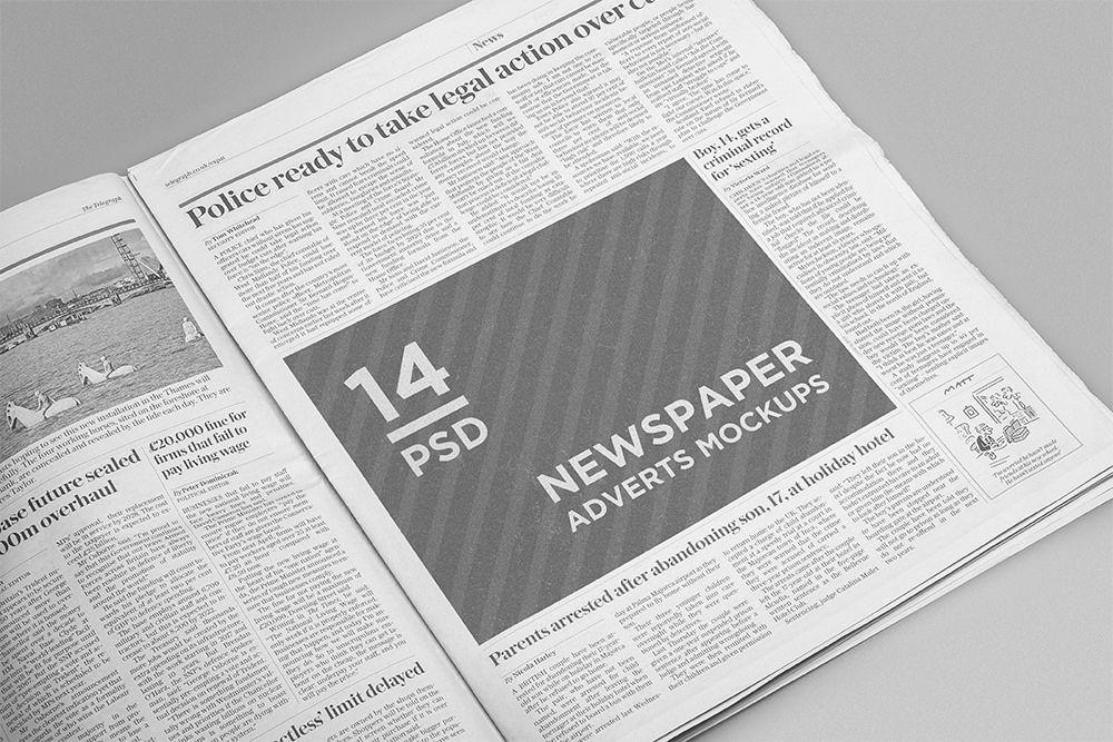 14 Newspaper Adverts Mockups Mockup Free Psd Free Mockup Newspaper