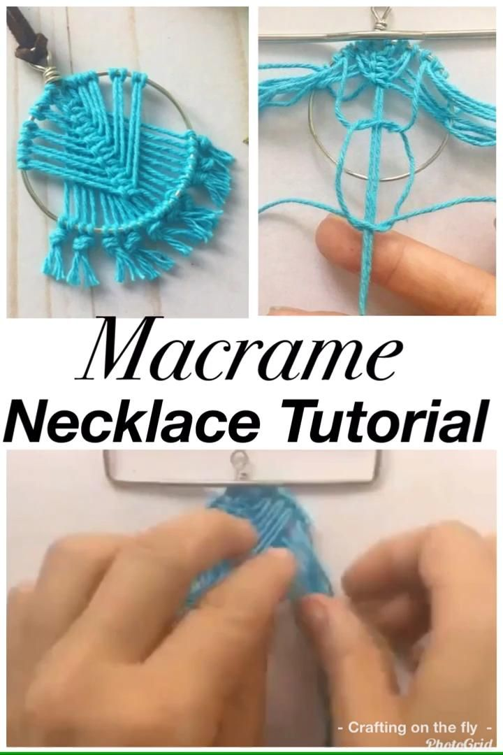 DIY Macrame Necklace Tutorial. learn how to make this Macrame Necklace with easy Macrame knots. Follow along with step by step instructions