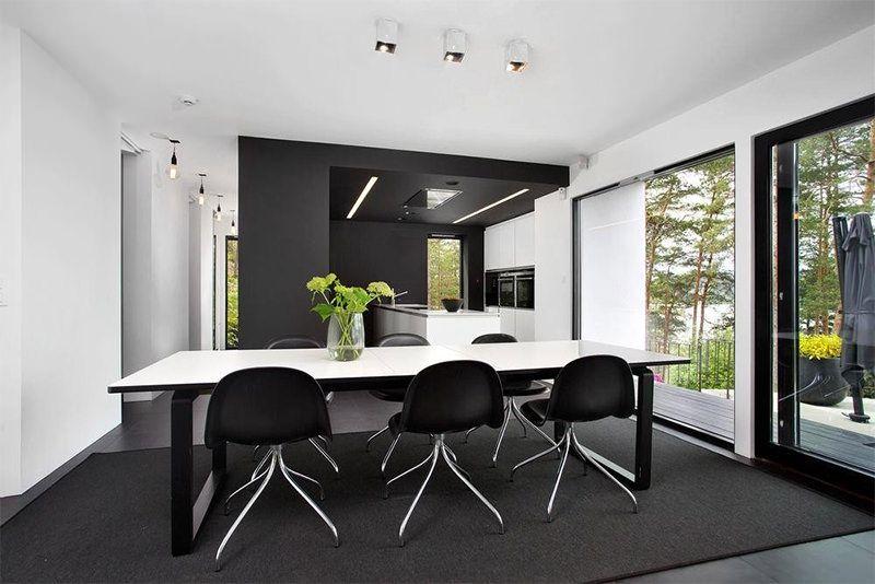 Casa toda em preto e branco - limaonagua