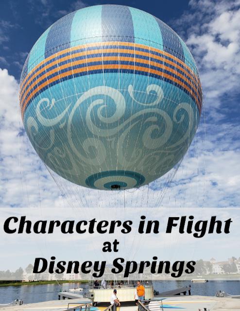 Characters in Flight Disney springs, Disney honeymoon