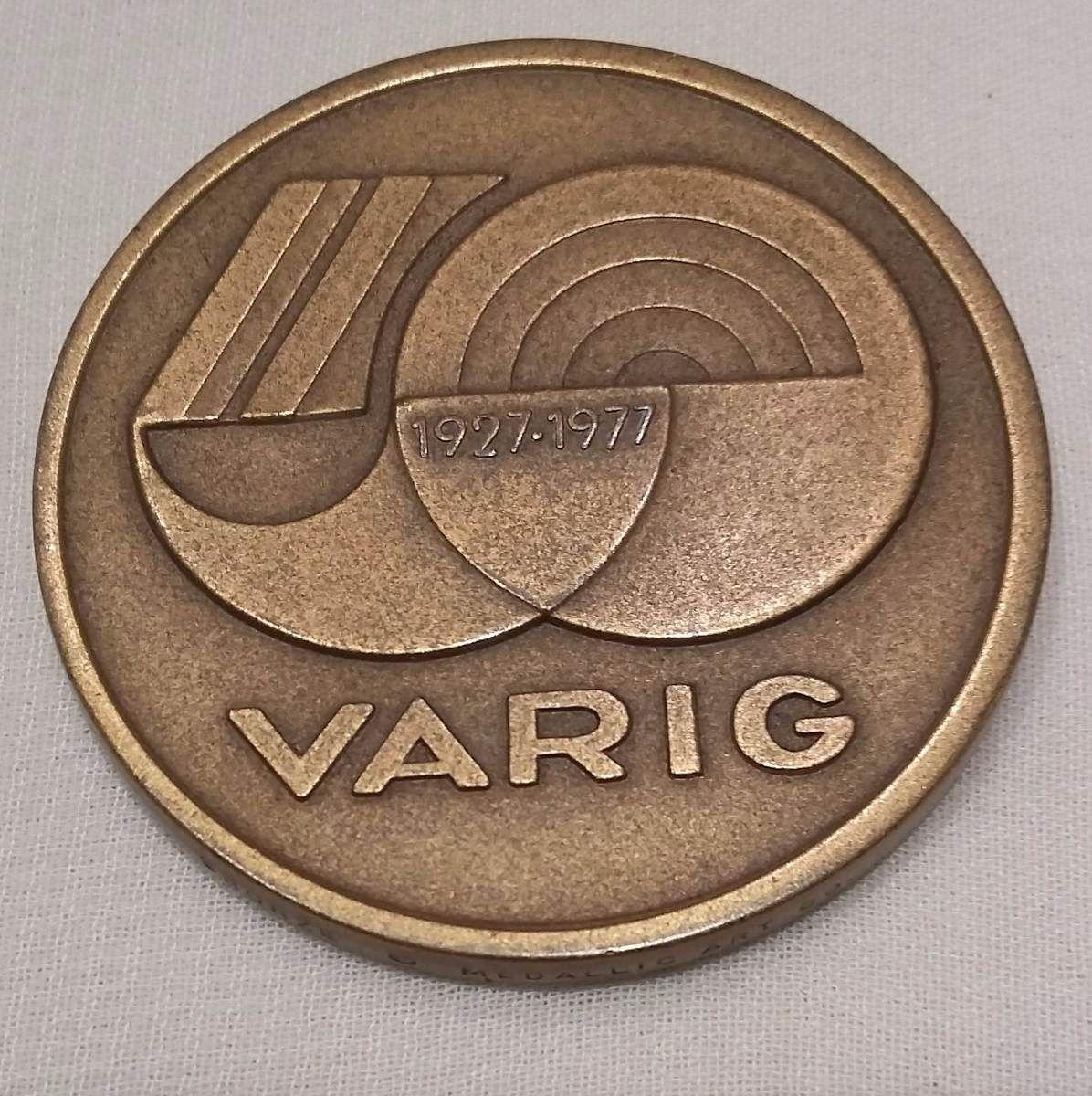 bf09a6746 Medalha 50 Anos Varig - R  115