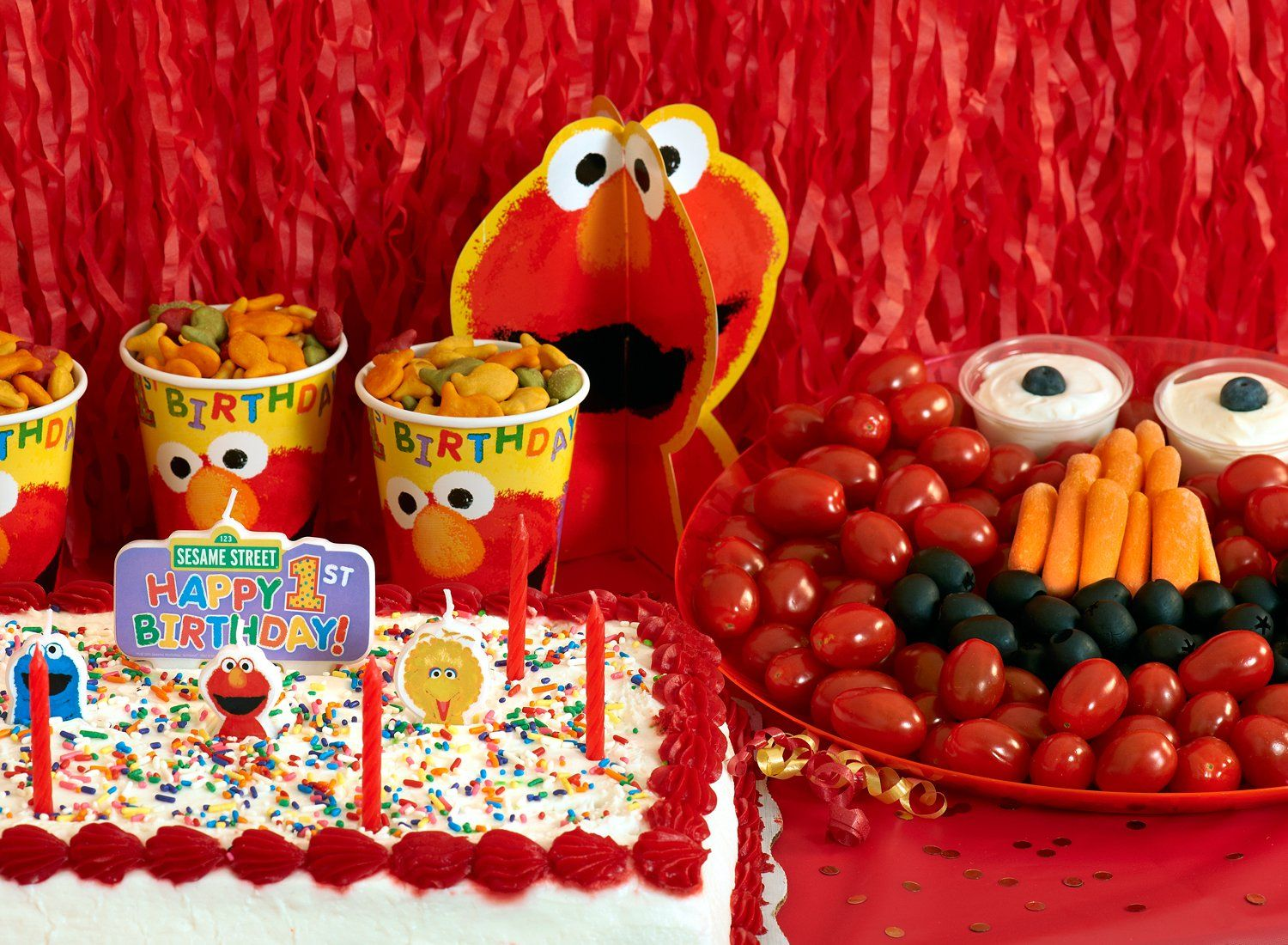 Elmo 1st birthday party ideas birthday party sesamestreet - Coolest Elmo Birthday Party And Sesame Street Party Ideas