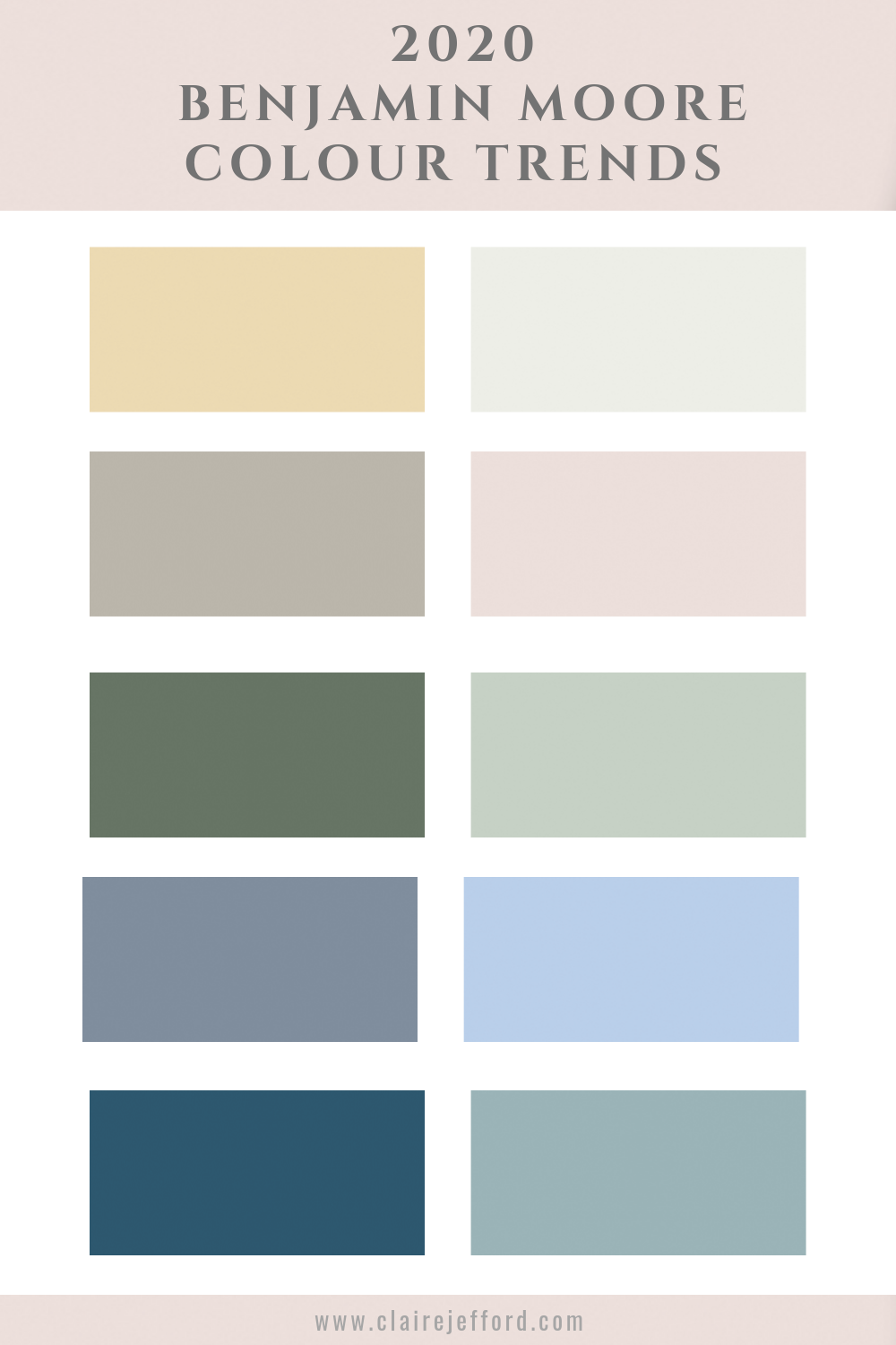Benjamin Moore Colour of the Year 20   Claire Jefford   Benjamin ...