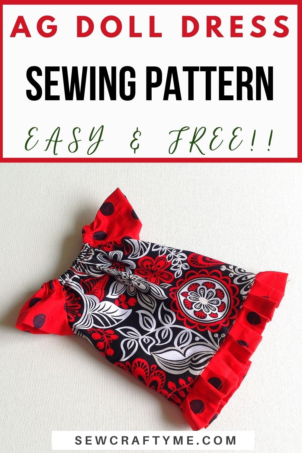 Peasant Dress Sewing Pattern for Dolls in 2021 Peasant