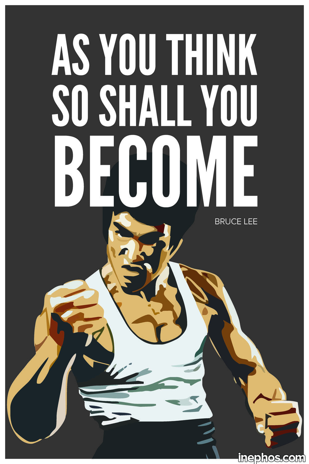 Bruce Lee As You Think Quote Poster Art Inspirational Posters For Room Inephos Inspirational Posters Quote Posters Thinking Quotes