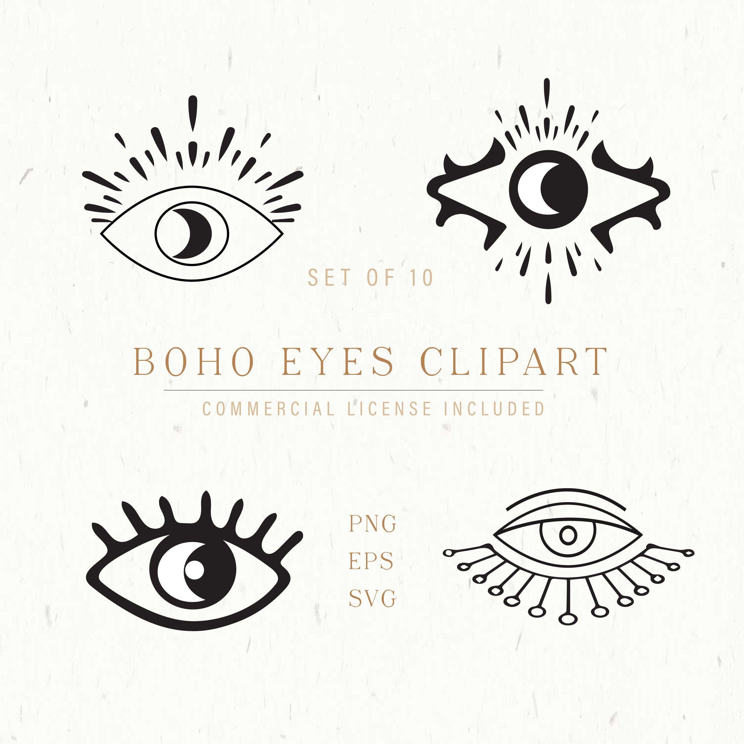 Boho Eyes Vector Clipart Eye Eye Svg Boho Eyes Design Third Etsy Clip Art Eye Design Make Your Own Logo