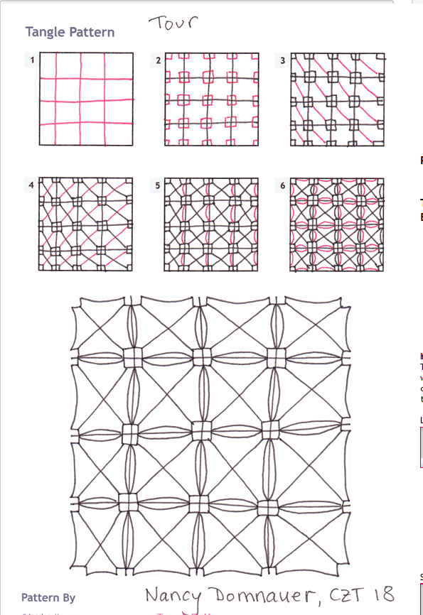 How To Draw Tour Tanglepatterns T Zentangle Instructions