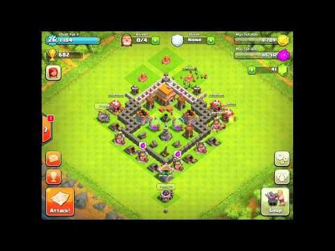 Clash Of Clans Defense Strategy Town Hall Level 5 2 Games