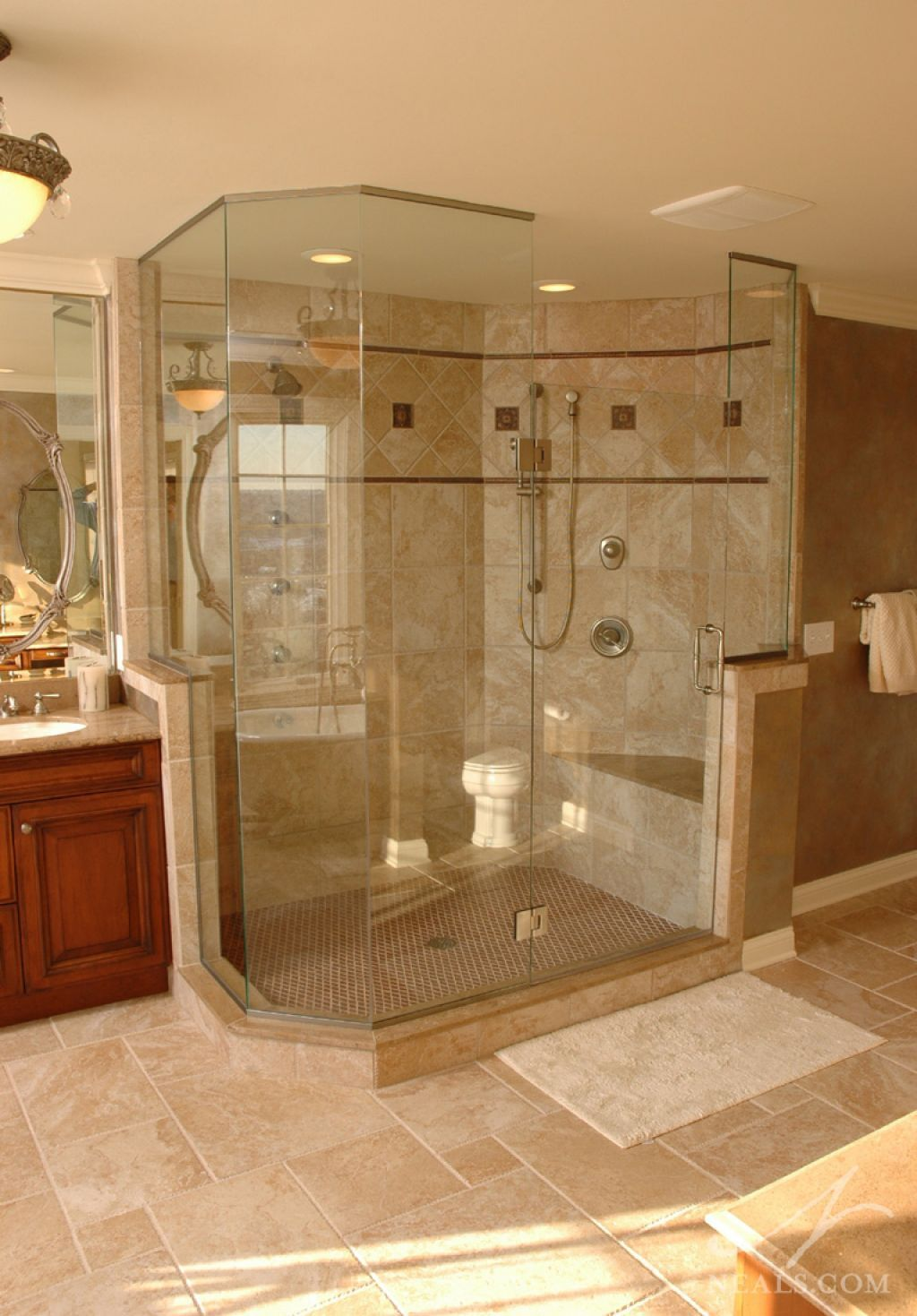 Walk In Bathroom Shower With Seat Best Bathroom Designs Master