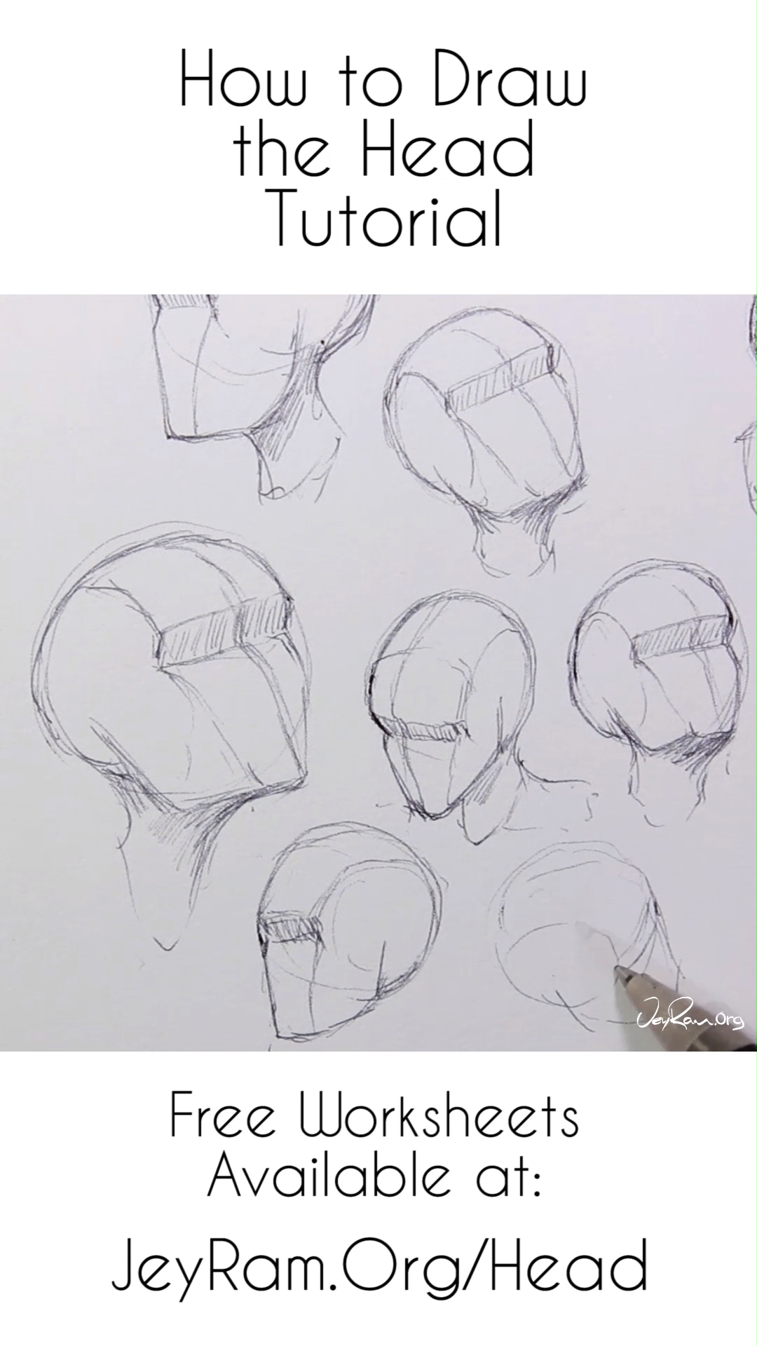 How to Draw the Head from Any Angle for Beginners