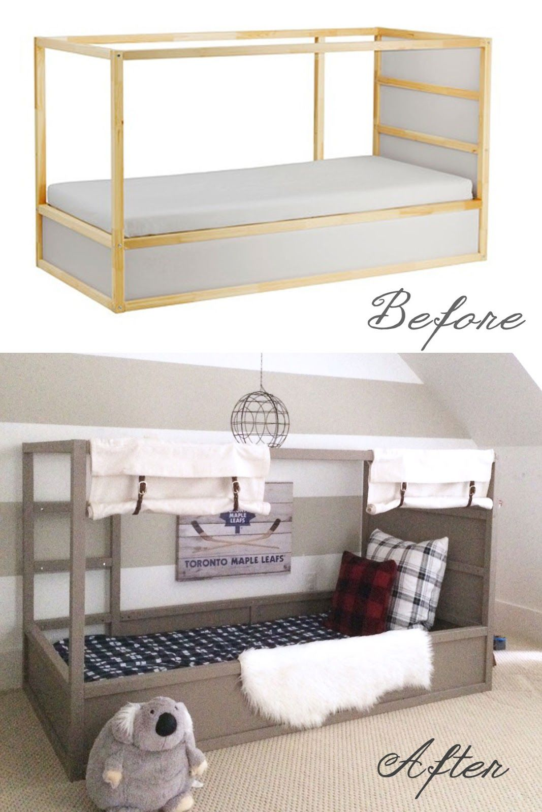 ikea kura bed hack option 2 with diy ball kinderzimmer ihr stil und kinderbetten. Black Bedroom Furniture Sets. Home Design Ideas