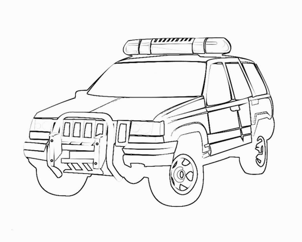 Military Jeep Coloring Pages Elegant Police Car Coloring