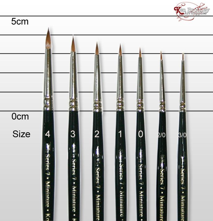 W N Series 7 Miniature Sable Watercolour Brush Best Watercolor